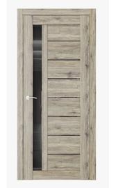 Межкомнатная дверь Q37 Дуб эссе (черный лакобель)