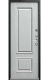 Входная дверь Т-2 Premium чёрный муар-арктик (Центурион)