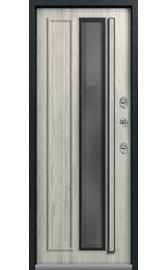 Входная дверь Т-5 Premium черный муар-полярный дуб (Центурион)