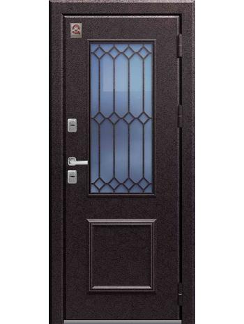 Входная дверь Т-1 Premium медный муар-полярный дуб (Центурион)