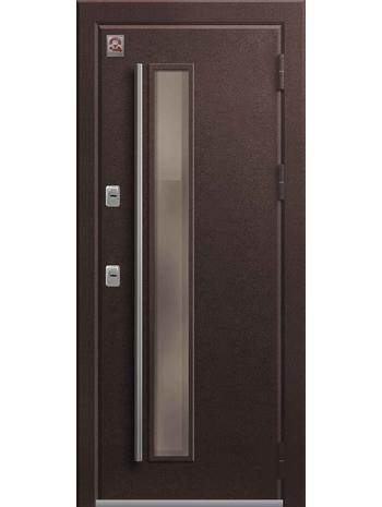 Входная дверь Т-4 Premium медный муар-полярный дуб (Центурион)