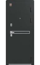 Входная дверь LUX-3 черный муар-лиственница светлая (Центурион)