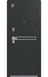 Входная дверь LUX-3 черный муар-лиственница темная (Центурион)