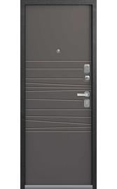Входная дверь LUX-5 серый муар-смоки софт (Центурион)