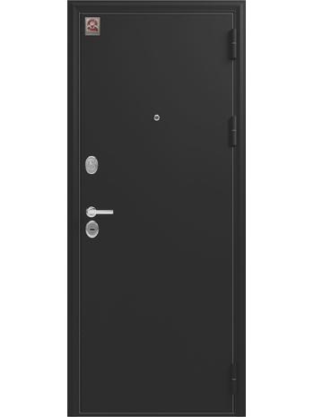 Входная дверь LUX-6 черный шелк-софт белый (Центурион)