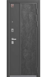 Входная дверь LUX-7 серый шелк-софт белый (Центурион)