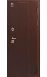Входная дверь Т-6 медь антик - тиковое дерево (Центурион)