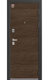 Входная дверь LUX-8 черный шелк-орех премиум (Центурион)
