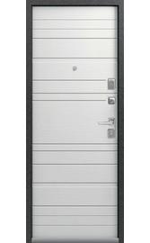 Входная дверь LUX-10 серый муар-ясень скандинавский (Центурион)