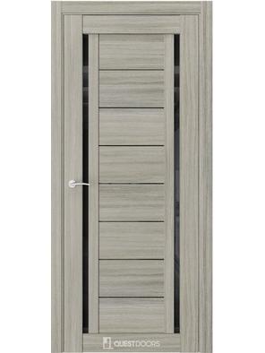 Межкомнатная дверь Q33 Миндаль (черный лакобель)
