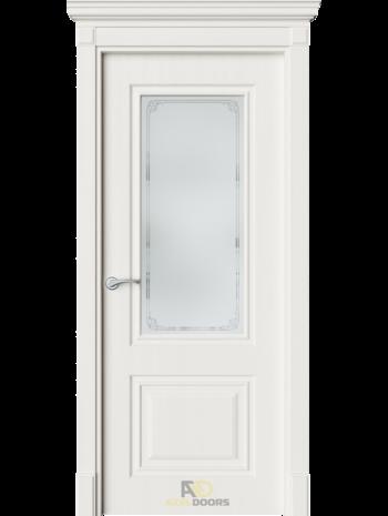 Межкомнатная дверь ДО Нонна белое дерево (белый сатинат)