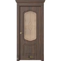 Межкомнатная дверь ДО Эмилия Орех грецкий (белый сатинат ст.4)