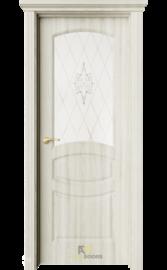 Межкомнатная дверь ДО Изабель Клен Экрю (белый сатинат)