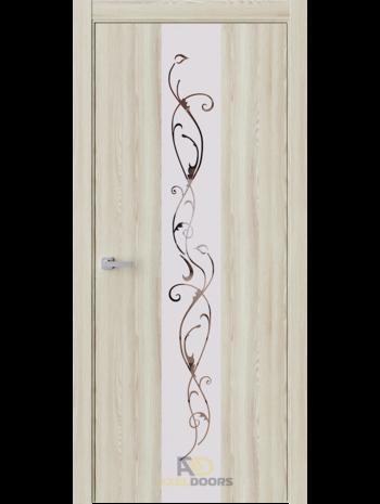 Межкомнатная дверь Экзотика 3 Клен Экрю (Зеркало с матировкой)