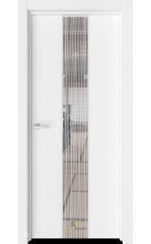 Межкомнатная дверь Экзотика 6 Вельвет (Зеркало с рисунком Дождь)