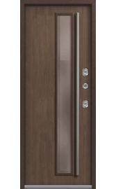 Входная дверь ТЕРМО Т-4 Premium Медный муар-Миндаль Стеклопакет (Центурион)