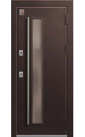 Входная дверь ТЕРМО ТС-4 Медный муар-Миндаль Стеклопакет (Центурион)