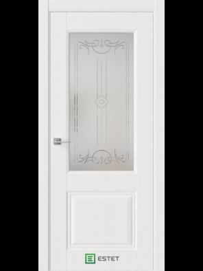 Межкомнатная дверь М3Р Белое дерево (Белый сатинат) (ESTET)