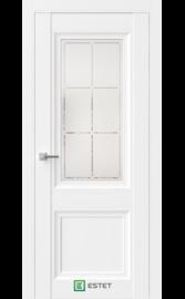Межкомнатная дверь BR4 Ясень винтер (Белый сатинат ст.1) (ESTET)