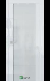 Межкомнатная дверь E7 Белый глянец (Белый лакобель) (ESTET)