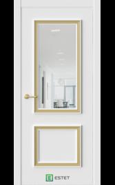 Межкомнатная дверь ERA-4 Айс Зеркало (багет золото) (ESTET)