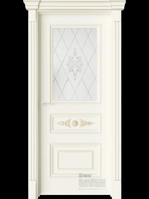 Межкомнатная дверь GE5M Ваниль (Белый сатинат Ст.1) (ESTET)