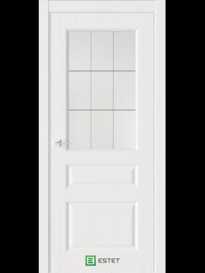 Межкомнатная дверь Мирбо 3 Белое дерево (Стекло Корсика) (ESTET)