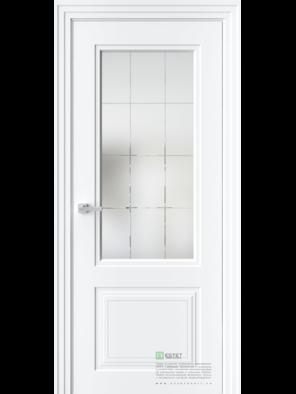Межкомнатная дверь N4 Белая эмаль (Белый сатинат) (ESTET)
