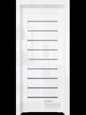 Межкомнатная дверь R35 Белый глянец (ESTET)