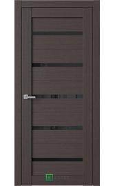 Межкомнатная дверь R1 Кофейное дерево (Черный лакобель) (ESTET)