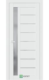 Межкомнатная дверь R37 Айс (Графит сатинат) (ESTET)