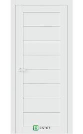 Межкомнатная дверь R48 Айс (Графит сатинат) (ESTET)