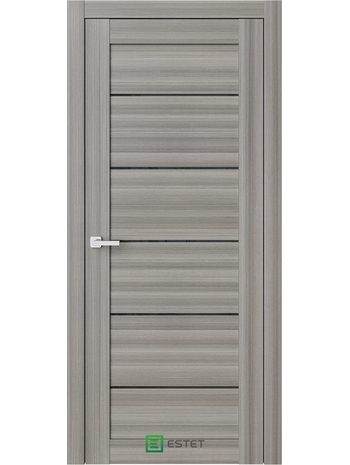 Межкомнатная дверь R6 Керамик (Черный лакобель) (ESTET)