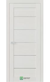 Межкомнатная дверь R6 Ясень жемчуг (Белый сатинат) (ESTET)