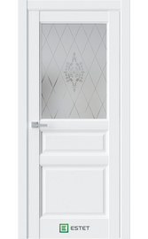 Межкомнатная дверь SE8 Enamel полярный (Белый сатинат ст.1) (ESTET)