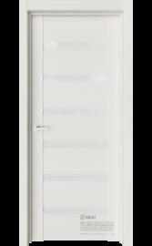 Межкомнатная дверь Т3 Ясень жемчуг (Белый лакобель) (ESTET)