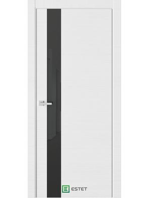Межкомнатная дверь U2 Белый горизонт (Черный лакобель) (ESTET)