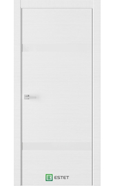 Межкомнатная дверь U3 Белый горизонт (Белый лакобель) (ESTET)