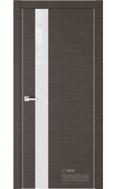 Межкомнатная дверь U2 Венге горизонт (Белый лакобель) (ESTET)