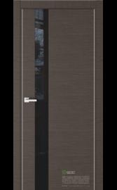 Межкомнатная дверь U2 Венге горизонт (Черный лакобель) (ESTET)