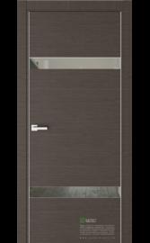 Межкомнатная дверь U3 Венге горизонт (Графитовое зеркало) (ESTET)
