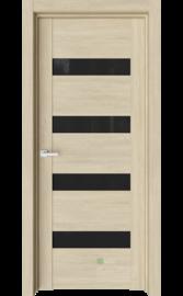 Межкомнатная дверь V19 Сенди (Черный триплекс)