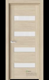 Межкомнатная дверь V19 Сенди (Белый триплекс)