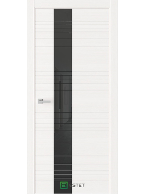 Межкомнатная дверь W1 White (Черный лакобель) (ESTET)