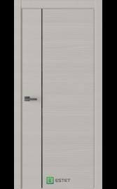 Межкомнатная дверь W5D Smoke (Черный лакобель) (ESTET)