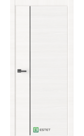 Межкомнатная дверь W5D White (Черный лакобель) (ESTET)