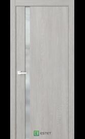 Межкомнатная дверь Стиль-1 Дуб серый (Белый триплекс) (ESTET)
