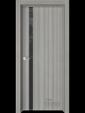 Межкомнатная дверь Стиль-1 Керамик (Черный триплекс) (ESTET)
