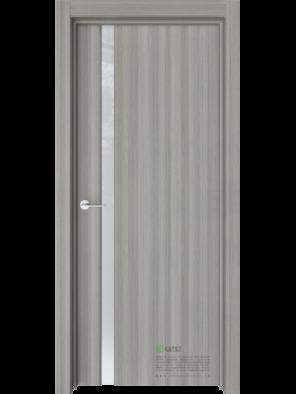 Межкомнатная дверь Стиль-1 Керамик (Белый триплекс) (ESTET)