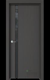Межкомнатная дверь Стиль-1 Кофейное дерево (Черный триплекс) (ESTET)